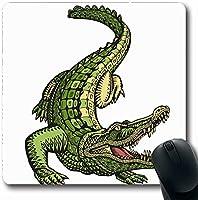マウスパッド7.9x9.8インチやかなヴィンテージクロコダイルワニドラゴンでかれたきりめゴムマウスパッドオフィスコンピュータラップトップゲームマット