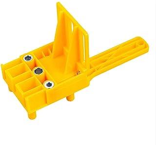 LLRYN Woodworking Dowel Jig 6/8/10mm Drill Bit Handheld Wood Drilling Doweling Hole Saw Drills Guide Hole Locator for Carp...