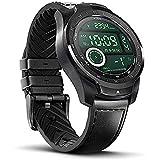 Ticwatch Pro 2020 Smartwatch RAM 1 GB, NFC, Frequenza cardiaca 24H, GPS IP68, Monitoraggio del sonno, Microfono, Altoparlante, Musica, Bluetooth, Compatibile con Android e iOS, Nero (Pro-Black)