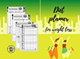 Diet planner for weight loss: Simple easy meal and diet planner journal for weight loss (Meal planner ALL IN) (English Edition)