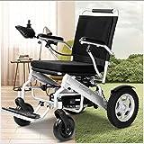 LOLRGV Elektrischer Rollstuhl, der atmungsaktives Kissen-Lithium-Batterie-Aluminiumlegierungs-kleinen Alten Roller der hohen Leistung faltet -