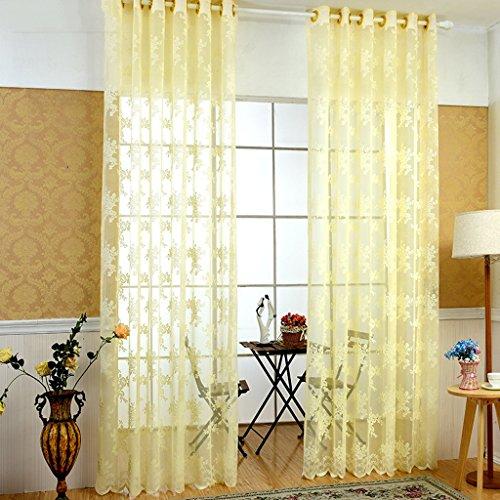 Rideaux Met Love Style Pastoral Polyester Warp Tricotage Haut de Gamme Home Fenêtre de Projection Tissu Art Salon Chambre Studio dédié Balcon Baie vitrée 2 Panneaux (Taille : L:3.0*H:2.7m)