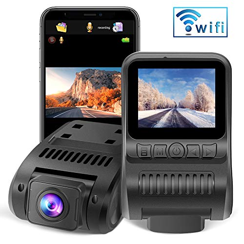 Upgraded Dash Cam Built in WiFi 1080P FHD Mini Car Dashboard Camera Recorder with 2.0' LCD Screen 170°Wide Angle, Super Night Vision, G-Sensor, WDR, Parking Monitor, Loop Recording, Motion Detection