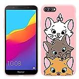 Pnakqil Coque HuaweiY5Prime2018 / Y52018 / Honor7S, Rose avec Motif Silicone Souple Case...