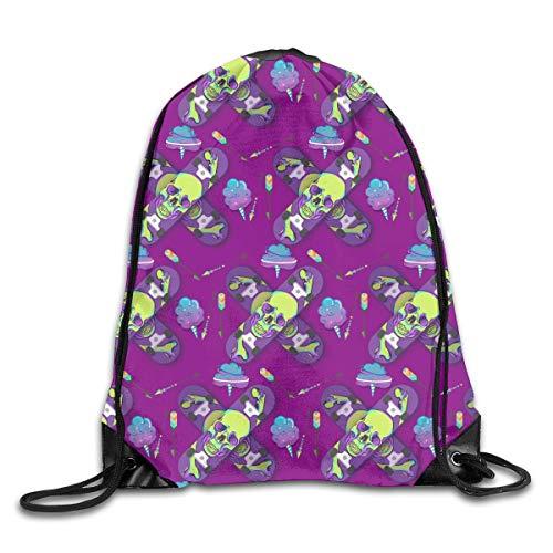 Backpack Bag Sack Beach School Gym Tie Dye Rainbow Multi Color Bolsa de colores