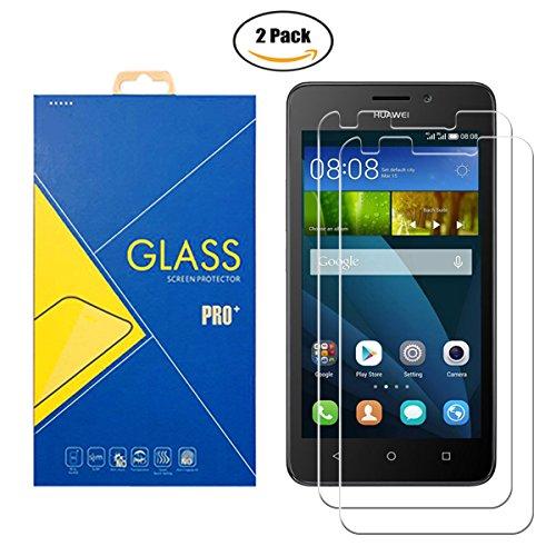 [2 Pack] Protector Cristal Vidrio Templado Huawei Ascend Y635 / 635 / L01 – Pantalla Antigolpes y Resistente al Rayado