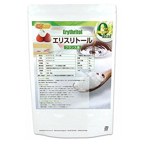 フランス産 エリスリトール 1kg 糖質制限 天然甘味料 砂糖代替甘味料 カロリーゼロ 希少糖 NICHIGA(ニチガ) 遺伝子組み換え材料不使用