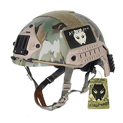 Worldshopping4U ATAIRSOFT Combattimento regolabile MH Type Casco veloce Multicam per esercito tattico militare Airsoft Paintball Caccia CQB Shooting Gear, Taglia: M/L … (XL)