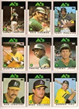 Oakland Athletics 1986 Topps Baseball Master Team Set with year-end Traded Cards (32 Cards)**Joaquin Andujar, Keith Atherton, Dusty Baker, Bruce Bochte, Jose Canseco, Chris Codiroli, Dave Collins, Mike Davis, Mike Gallego, Alfredo Griffin, Moose Haas, Mike Heath, Steve Henderson, Donnie Hill, Jay Howell, Tommy John, Dave Kingman, Bill Krueger, Rick Langford, Carney Lansford, Steve McCatty, Jackie Moore, Dwayne Murphy, Tony Phillips, Rob Picciolo, Jose Rijo, Mickey Tettleton, Curt Young and More