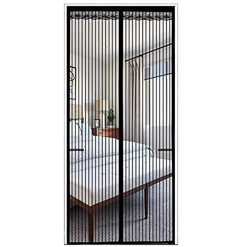 Cortina Mosquitera Magnética para Puertas, Anti Insectos Moscas y Mosquitos, con Imanes Cierre Automático, para Puertas Correderas/Balcones/Terraza