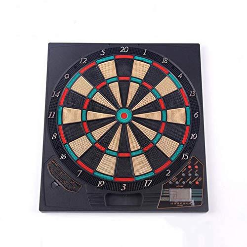 Diana electrónica, Juegos de Diana, 18 Juegos y 159 Variantes de Juego,Pantalla LCD Scoring Indicator Target Board con 6 Dardos para 8 Jugadores,Black