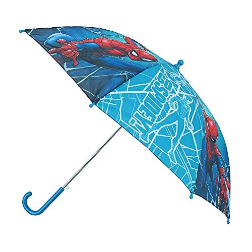 Kids Licensing | Paraguas Spiderman | Paraguas Infatil | Paraguas Niño | Tamaño Perfecto | Diseño Muy Resistente | Material de Calidad | Licencia Oficial