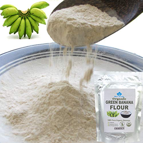 100% USDA Certified - Organic Green Banana Powder - Resistant Starch - Superfood Pre-biotic Smoothie Powder - Flour Substitute for Baking - Gluten-free, Grain-free (14 OZ)