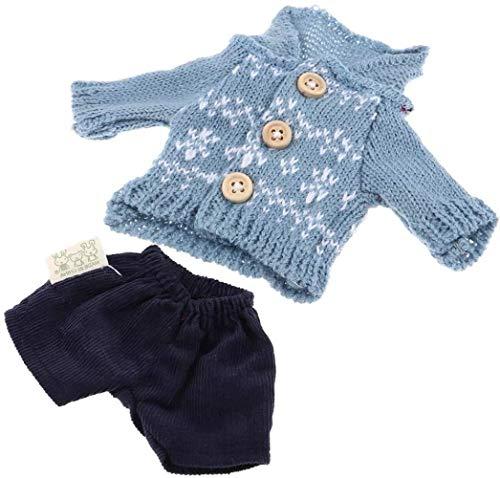 CWT Spielzeug Spielzeug Puppenkleidung Anzug T-Shirt Pullover Kleid und Shorts Kuscheltiere Plüschtiere Light Blue Spielzeug