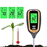 Soil Test Kit, 4-in-1 Soil Moisture/Light/pH Tester Gardening Tool Tester Kits for Garden, Farm, Lawn Planter, Indoor Outdoor, Soil PH Meter