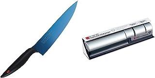 スミカマ (SUMIKAMA) 霞(KASUMI) チタニウム 剣型包丁 20cm ブルー 22020/B & ダイヤモンドシャープナー 33001【セット買い】