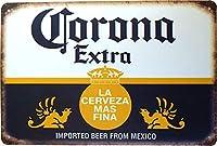 コロナ ビール ブリキ看板 20cm×30cm Corona Extra Beer A4サイズ アメリカン インテリア雑貨 [並行輸入品]