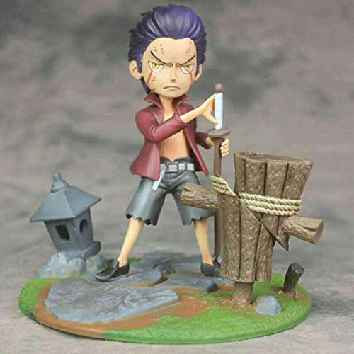 SXXYTCWL 16 cm ONE Piece Kindheit Dracule Mihawk Szene Action-Figur Statue Dekoration Mode Geschenk Zeichentrickfigur Modell jianyou