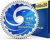 FALKENWALD ® - Lama per Sega Circolare 160 x 20 mm - Ideale per Legno, Metallo e Alluminio