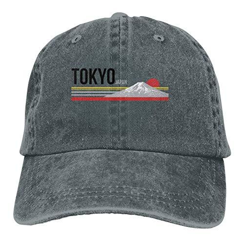 DRXX Tokio Japón Gorra Deportiva Ajustable Suave para Adultos Casquette Gorra de Mezclilla Lavada para Hombre