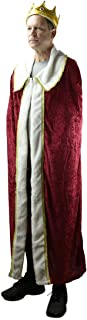 Velvet Fancy Kings Cloak Royal Cape Medieval Robe Theater Prop Costume Accessory Red