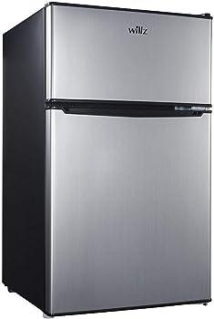Willz 3.1 Cu Ft Refrigerator Dual Door True Freezer