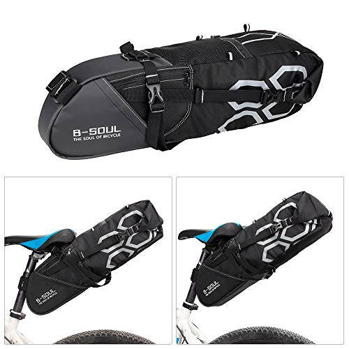 Docooler10Lサドルバッグ自転車用バイクリアシートバッグ自転車保管袋マウンテンロードバイク用大容量軽量防水