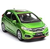 LQH 1:32 Toy Car Honda Fit Metallo Giocattolo della Lega Fonde sotto Pressione Auto Veicoli Giocattolo Modello di Auto Lupo Warriors Model Car Giocattoli for i Bambini (Color : Green)