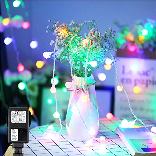 100 LED Globe Lichterkette, Speclux Party Lichterkette Bunt 13m mit 100 LED Kugel Strombetrieben RGB IP44 Wasserdicht für Weihnachten, Hochzeit, Terrasse, Pavillons, Biergarten oder Party-Keller