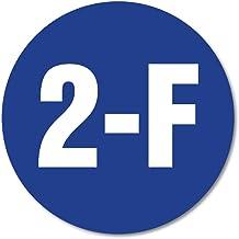 Huisnummerbordje Blauw rond   15 cm