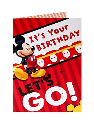 Disney Mickey Maus IT 'S YOUR BIRTHDAY Let 's Go. Geburtstagskarte