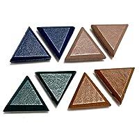 ストアーズクラブ 4色8個 三角の貼り付けウッドパーツ カボション 手芸