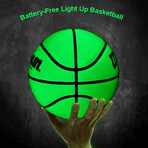 Mississ Leuchtender Basketball Nr. 7 Hohe Verschleißfestigkeit Und Lange Lebensdauer Selbstleuchtender Basketball Ohne Beleuchtung Leuchtend Grüne Basketballerholung