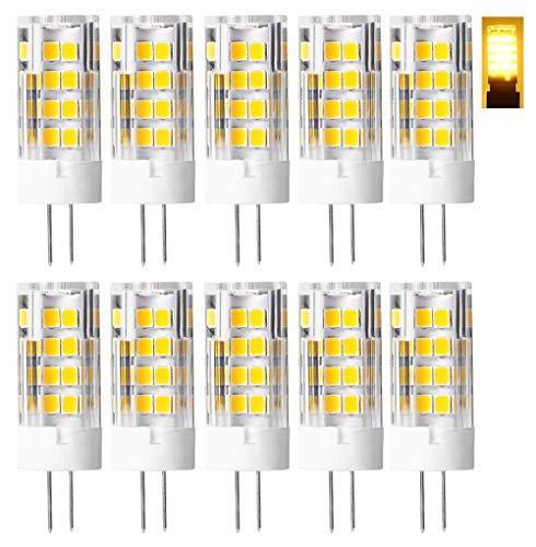 10pcs 4.5W G4 LED Lampe ersetzt 35W~40W Halogen Lampen, AC/DC 12V 380lm Warmweiß 3000K 51 SMD2835 360° Abstrahlwinkel,G4 LED Leuchtmittel Rundstrahler Birne.