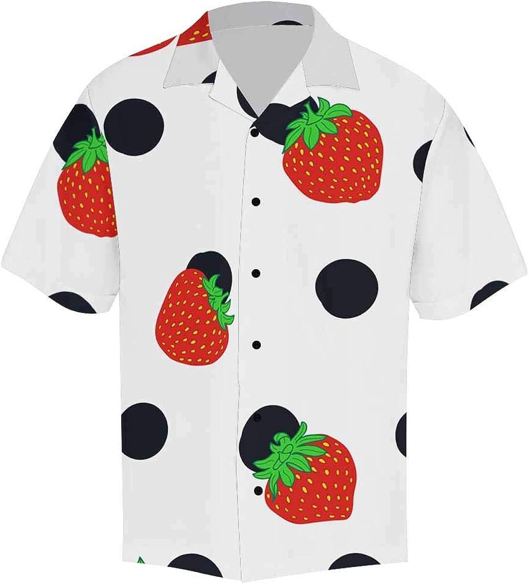 InterestPrint Men's Casual Button Down Short Sleeve Sunflowers Hawaiian Shirt (S-5XL)