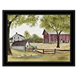 Trendy Decor4U The Old Spring House by Billy Jacobs Printed Wall Art, 27 Inch x 21 Inch, Black Frame