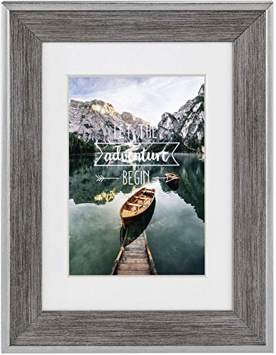 Hama Kunststoff-Bilderrahmen mit Haken und Fuß, grau, 13 cm x 18 cm