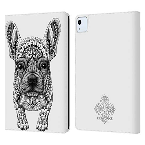 Head Case Designs Officially Licensed Bioworkz Frenchie Canine Leather Book Wallet Case Cover Compatible with Apple iPad Air (2020)
