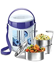 Milton Econa 3 Stainless Steel Tiffin Box (3 Containers), Blue