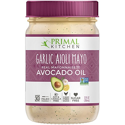 Primal Kitchen, Garlic Aioli Mayo with Avocado Oil, 12 Fl Oz (Pack of 1)