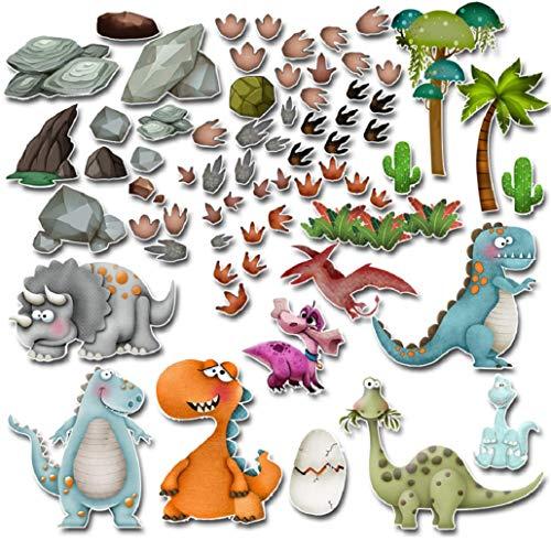 Dinosaurier Wandtattoo Wandsticker Aufkleber für Kinder Jungen und Mädchen Kleinkinder Kinderzimmer Schlafzimmer