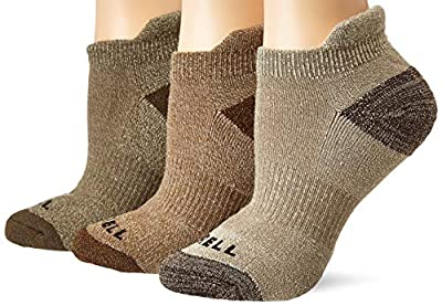 Merrell Women's 3 Pack Cushion Low Cut Tab, Olive Assorted, S/M
