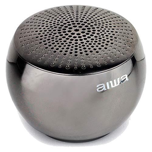AIWA ORB - Altavoz Bluetooth portátil, carcasa de aleación de metal fresada...