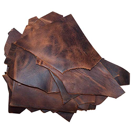 Hide /& Drink Craft /& Workshop Trimming Rustic Pieces 2 Pound Cow Leather Chips /& Scraps 1.8mm :: Old Tobacco