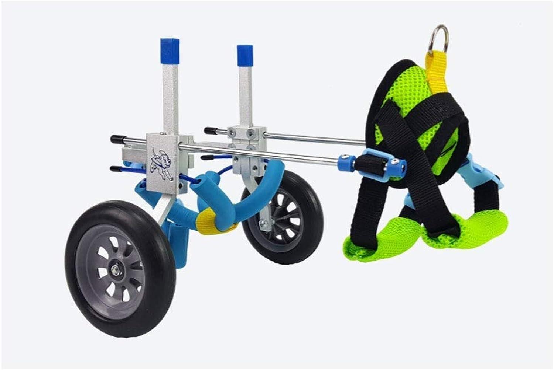 Portable Adjustable Dog Car Pet Wheelchair (XXSXL), Back Height 1668 Cm, Weight 150 Kg, Rear Leg Repair, Lightweight Aluminum Alloy, Cat Best Friend (Size   XS(widening))