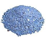 Blauer Chalcedon Mini Trommelsteine 100 gramm Chips 2-5 mm Durchmesser