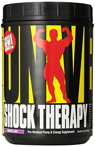 Universal Nutrition Shock Therapy Pre-Workout Booster Trainingsbooster 840g (Grape - Traube)