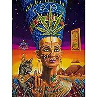 大人のためのigsawパズル1000ピース 古代エジプトの肖像画 パズル 友達や家族への教育ゲームのおもちゃギフト、クールな家の装飾 38x26cm
