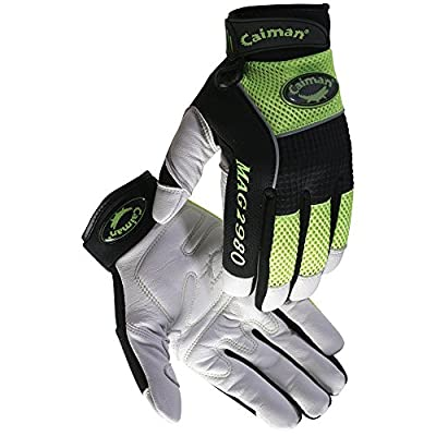 Caiman White Goatskin, High-Visibility, Multi-Activity/Mechanic Large