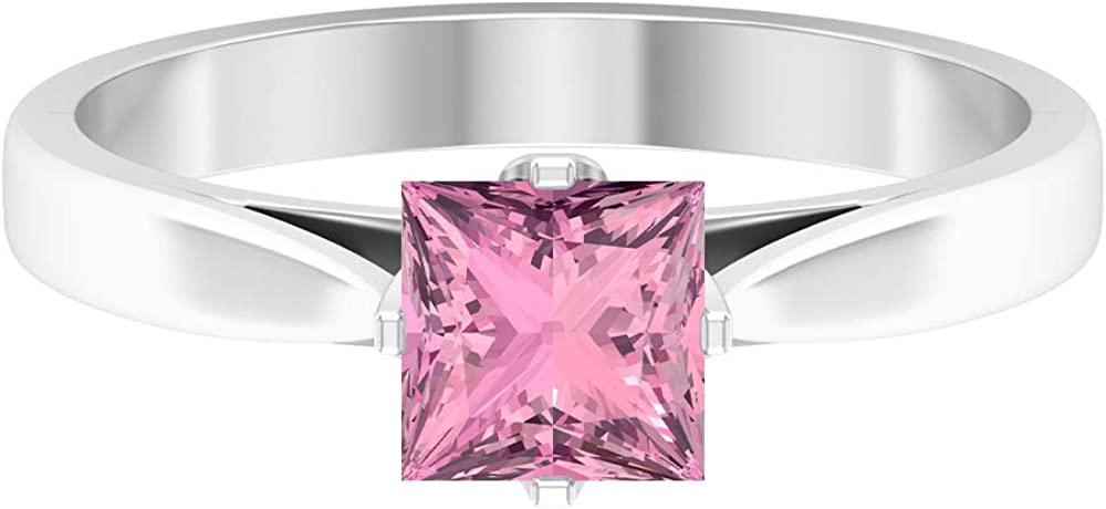 October Birthstone - Solitaire Industry No. 1 Finally resale start Princess Tourmaline Shaped 5.5 MM